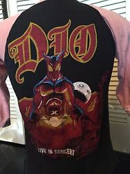 Vintage 1984 Dio Last In Line Bootleg Tour Shirt Size Small Rock Metal