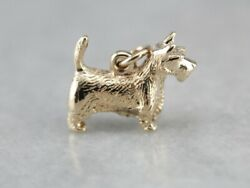 Gold Scottish Terrier Animal Charm