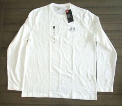 Under Armour Men#x27;s Long Sleeve Charged Cotton T Shirt 1289909 White Sm 3xl $19.99