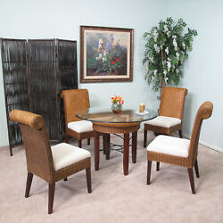 Rattan And Wicker 5 Piece Dining Furniture Set 2517-dn