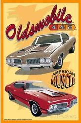 Oldsmobile 442 American Muscle Tin Sign