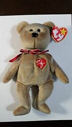 Ty Beanie Babies 1999 Signature Teddy With Errors In Hang Tag ,rare , Retired