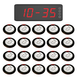 Singcall Wireless Waiter Service Calling Systems 20 Buttons, 1 Receiver Sc-r50