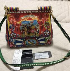 DOLCE&GABBANA Shoulder Hand Bag Rare Design Print Never Used