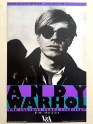 Rare 1989 Andy Warhol The Factory Years Nat Finkelstein Photo Exhbtn Poster
