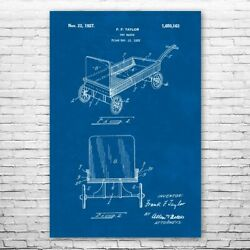 Toy Pull Wagon Poster Art Print Wagon Wall Art Red Wagon Toy Wagon Toy Gift