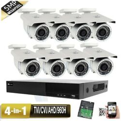 8ch 5-in-1 Dvr 5mp 4-in-1 9-22mm Varifocal Zoom Security Camera System Ip66 42