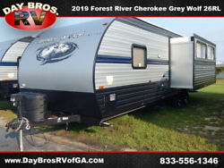 19 Forest River Cherokee Grey Wolf West 26RL RV Camper Towable Travel Trailer