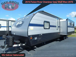 19 Forest River Cherokee Grey Wolf West 29TE RV Camper Towable Travel Trailer