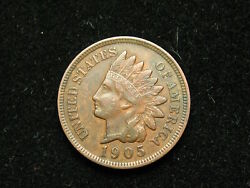 Must Go Sale Xf 1905 Indian Head Cent Penny W/ Full Liberty And Diamonds 65v