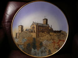 S20 Huge Antique Mettlach Villeroy Boch Hp Charger Plate Castle 17.5 Germany