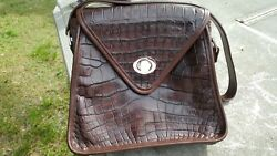 Wild Alligator leather Kelly Purse Bag designer gator leather