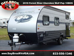 19 Forest River Cherokee Wolf Pup 16BHS RV Camper Towable Travel Trailer Bunks
