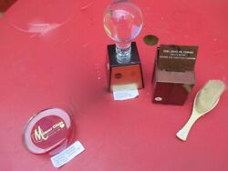 Lot Of 5 Vintage Advertising Items. Cities Service,federal Trucking,moser Glass