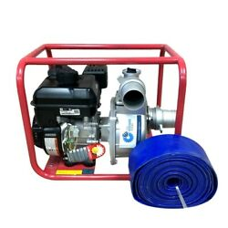 3 In 6 Hp Gas Powered Water Pump Briggs And Stratton Engine Free Hose 30 Feet