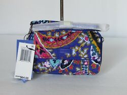 New Vera Bradley All In One Crossbody Wallet Wristlet $64 $25.00