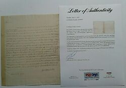 James Monroe Handritten And Signed Letter To Mr Giles Dated March 6 1792 Psa/dna