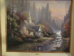 Vintage The Forest Chapel Publisher Proof 457/590 In Walnut Frame W/ Coa Exce