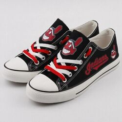 Cleveland Indians Menand039s Womenand039s Shoes Sneakers Glow In Dark Baseball New Designs