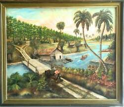 Landscape Rural Life On Mississippi River By Saul Haymond American