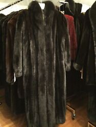 BRAND NEW W/TAGS RANCH MINK COAT W/FOX TUXEDO LENGTH