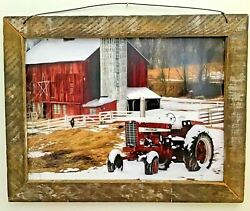 Primitive Rustic Country Home Decor- Wall Hanging- Perry County Farm- 12x 16