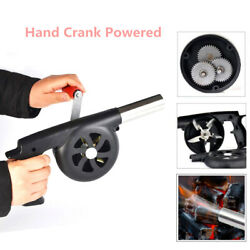 Hand Crank Fan Air Blower Grill Fire Starter Flame Stove Bbq Picnic Cooking Tool