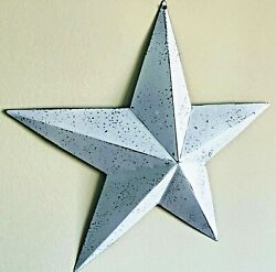 Primitive Country Home Decor-tin Barn Star- White Wash- 12 Or 18 Inches- Wall