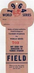 1964 World Series Gm 3 Mickey Mantle Hr 16 Ticket Pass Tops Babe Ruth Record