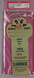 1964 World Series Gm 3 Mickey Mantle Hr 16 Ticket Pass Psa Top Babe Ruth Record