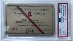 Ted Williams Last Gm/hr Psa Ticket/pass 1960 Ex Boston Red Sox At Fenway Park