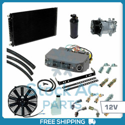 New Ac Air Conditioner Kit 12v Fits All Vehicles - W/ Serpentine Compressor