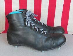Vintage 1930s Soccer Rugby Boots Leather Football Shoes Aluminium Cleats 9 Nice