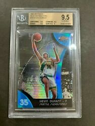 07-08 Topps Finest Kevin Durant Blue Refractor RC 35/199, Jersey #ed 1/1! BGS9.5