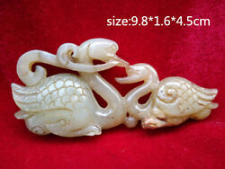 Free Shipping Chinese Jade Two Goose Delicate Ornaments