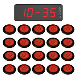 Singcall Wireless Service Waiter Calling Systems 20 Buttons, 1 Fixed Receiver
