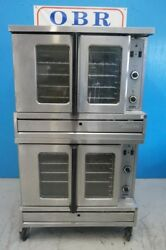 GARLAND SUNFIRE NATURAL GAS  FULL SIZE DOUBLE STACK CONVECTION OVEN MODEL SDG-1
