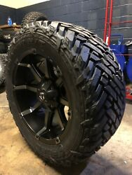 20x10 Fuel D556 Coupler 33 Mt Wheel And Tire Package 8x180 Gmc Sierra 8-lug Tpms