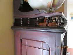 Walnut Book Case Eastlake 1870's With Glass Double Doors - Victorian