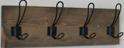 Handmade Rustic Wood Hanging Rack 20 X 5 1/2 Mounting Hardware Included