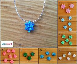 Star Of David Charm Pendant Lab Opal Sterling Silver Necklace Bat Mitzvah Gifts