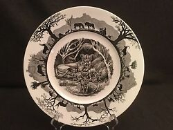 Wedgwood Kruger National Park With Map Dinner Plate Lioness With Cubs