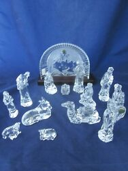 Waterford Crystal Nativity 14 Piece Set Excellent