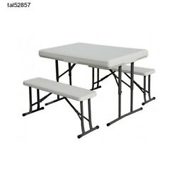 Portable Camping Table Bench Picnic Folding Heavy Duty Tailgate Party Compact