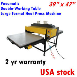 39 x 47in 9000W Pneumatic Double-Work Table Large Format Sublimation Heat Press