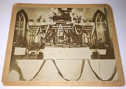 Antique Victorian American Funeral And Casket Death And Mourning Iowa Cabinet Photo