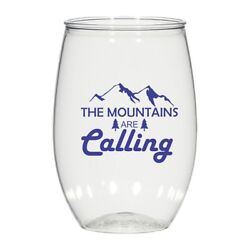 16 Oz Personalized Wedding Cups Glasses Cocktail Glass The Mountains Are Calling