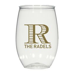 16 Oz Personalized Stemless Wine Glass, Wedding Cups, Housewarming Gift, Cups