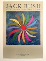 JACK BUSH RARE 1980 ABSTRACT EXPRSNT LITHOGRAPH PRINT LONDON EXHIBITION POSTER