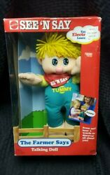 12 Mattel See And039n Say The Farmer Says Talking Doll 1991